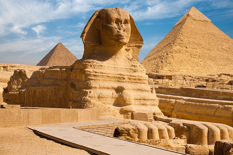 تصویر از پاورپوینت اهرام ثلاثه مصر